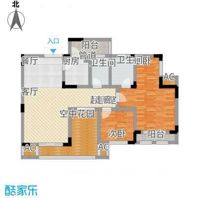 隆鑫花漾湖84.00㎡F型面积8400m户型