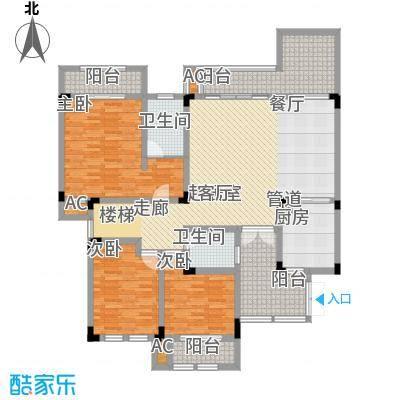 隆鑫花漾湖143.20㎡B4-1下层面积14320m户型