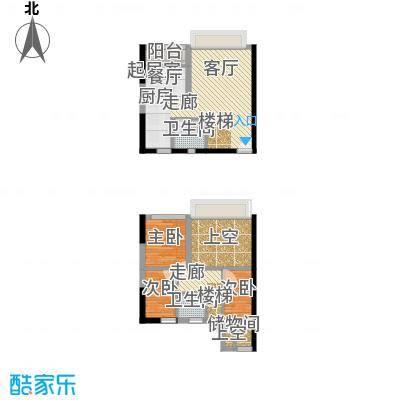 同景国际城香溪迈上65.74㎡一期面积6574m户型