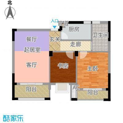 润泽大院89.00㎡中庆二期-A2户型