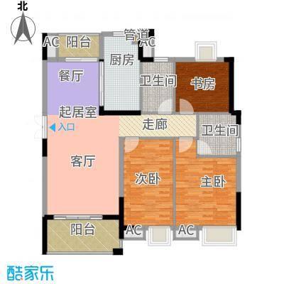 润泽大院138.00㎡中庆二期-B1户型