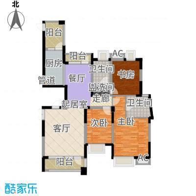 润泽大院141.00㎡中庆二期-D3户型