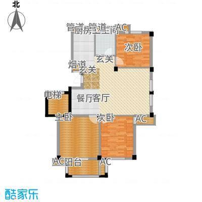 天怡嘉苑110.00㎡高层标准层C面积11000m户型