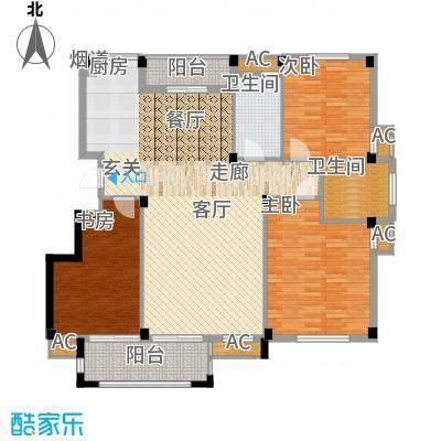 天怡嘉苑138.10㎡高层标准层B面积13810m户型