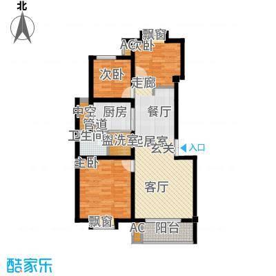 红墅湾88.95㎡情景洋房2-4层面积8895m户型