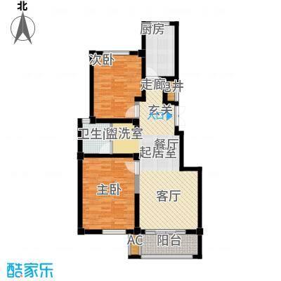 红墅湾80.93㎡电梯公寓标准层A户面积8093m户型
