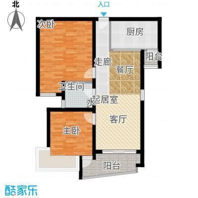 越秀苑一期91.00㎡房型: 二房; 面积段: 91 -105 平方米; 户型