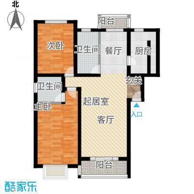 银叶苑87.00㎡房型: 二房; 面积段: 87 -112 平方米; 户型