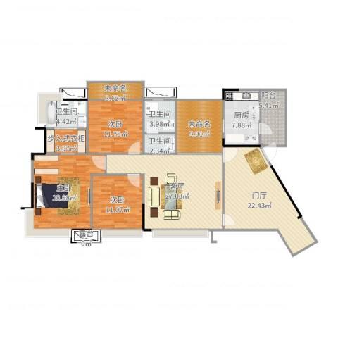 三江国际丽城阅世集3室1厅3卫1厨180.00㎡户型图