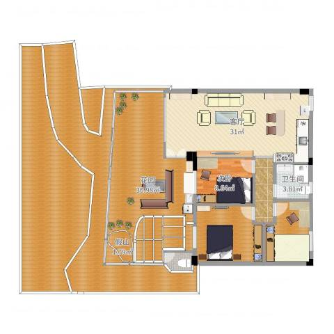 洛涛居北区1室1厅5卫4厨227.00㎡户型图
