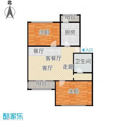 新塘桥生活广场写字楼96.00㎡2室1厅一卫96平米双南户型
