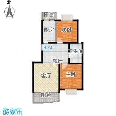 金桥新城一期91.00㎡房型: 二房; 面积段: 91 -97 平方米; 户型