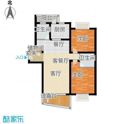 华阳苑90.00㎡房型: 二房; 面积段: 90 -115 平方米;户型