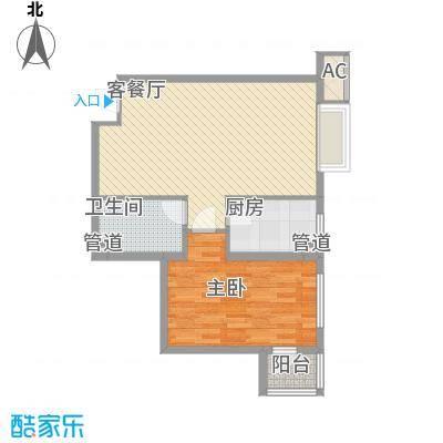 炫彩SOHO76.94㎡A7B7面积7694m户型