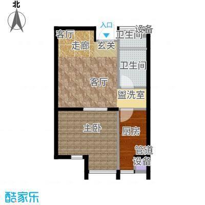 炫彩SOHO59.18㎡A31面积5918m户型