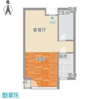 炫彩SOHO59.28㎡B41面积5928m户型