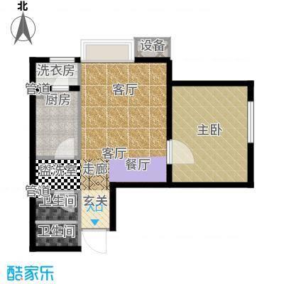 炫彩SOHO66.42㎡A9-B92面积6642m户型