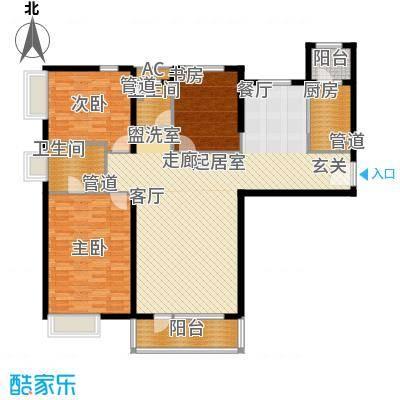 裕祥园156.83㎡4#5#楼1-18层C6户面积15683m户型