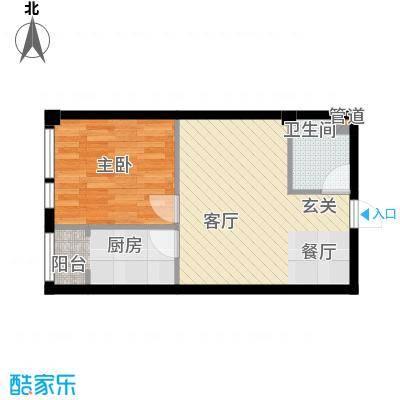 凤城阳光55.70㎡B51面积5570m户型