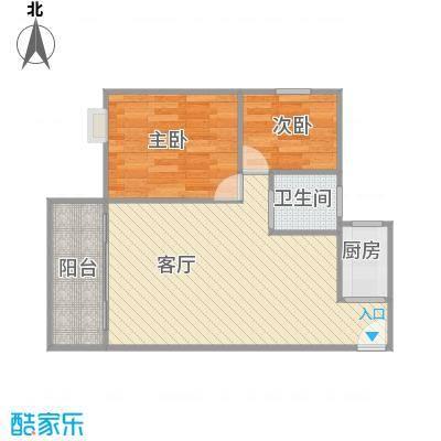63平米两室01户型