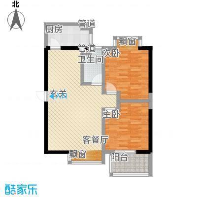 时代财富城E-天玉轩、天玺轩户型2室2厅1卫