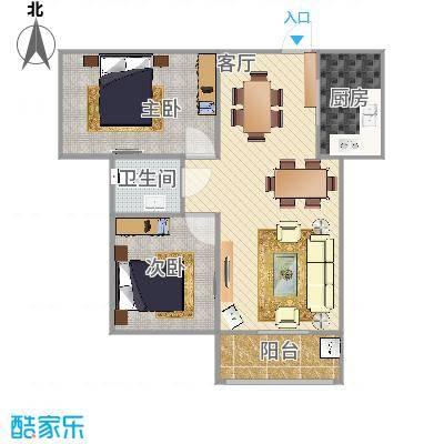澜点家园两室两厅88平户型-副本