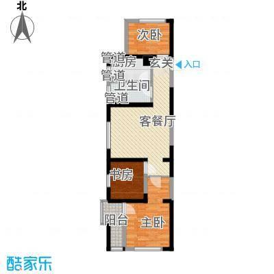 仙林悦城83.00㎡一期1栋2栋C户型