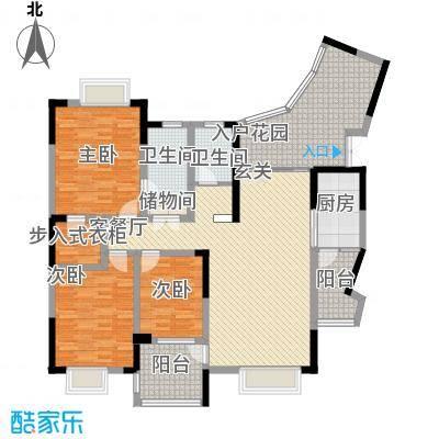 美好家园别墅148.36㎡I3型户型3室2厅2卫1厨