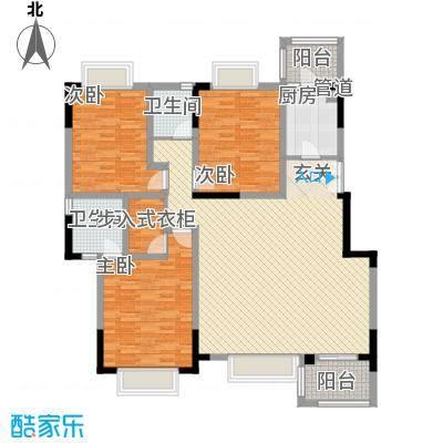 美好家园别墅142.80㎡C型户型3室2厅2卫1厨