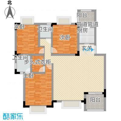 美好家园别墅11.00㎡户型3室2厅2卫1厨