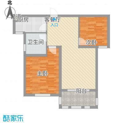 德仁・翡翠城87.28㎡1#、2#、3#、9#B2户型