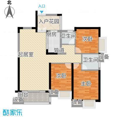 世纪城龙祺苑135.00㎡户型3室