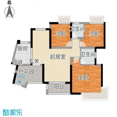 世纪城龙祺苑14.00㎡户型3室