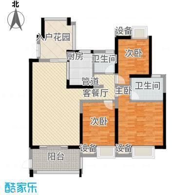 世纪城龙祺苑户型3室