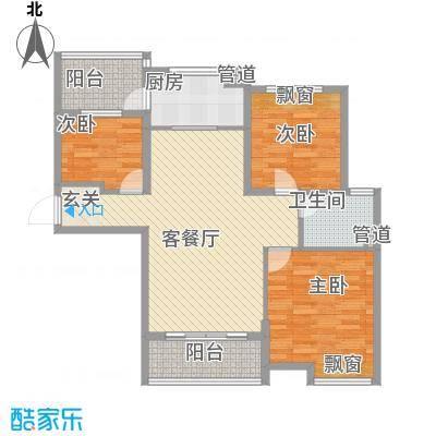 东台碧桂园11.00㎡一期精装洋房J472-C户型3室2厅1卫1厨