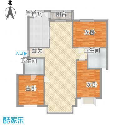兰溪文苑145.58㎡户型3室