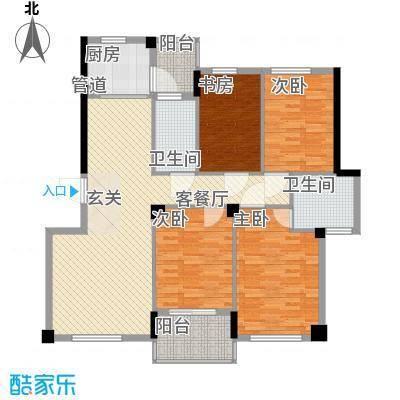 盛世华府146.00㎡I户型4室2厅2卫1厨