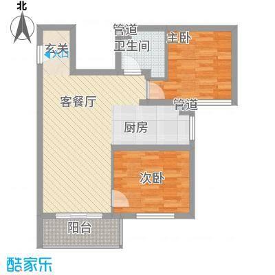 东兴寓城花园3-D(已售完)户型2室1厅1卫