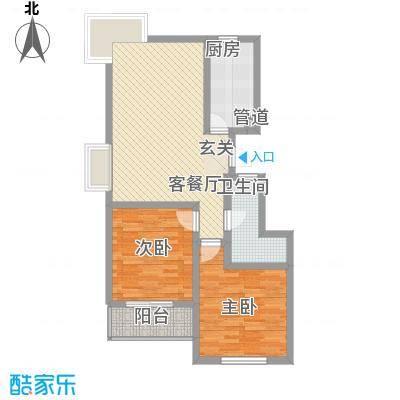 东兴寓城花园4-A(已售完)户型2室2厅1卫