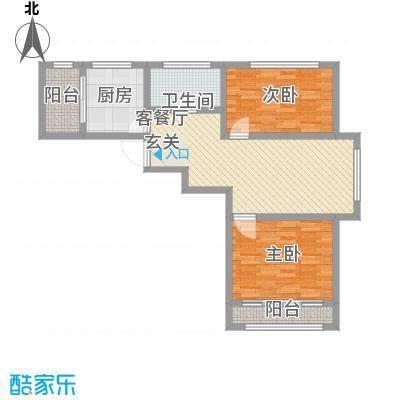尚港华府高层2号楼标准层G户型