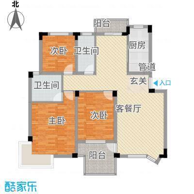 繁华世家户型3室