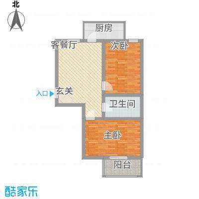 华旗地和苑8095、8834户型2室1厅1卫1厨