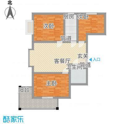 华旗地和苑18.62㎡10862户型3室1厅1卫1厨