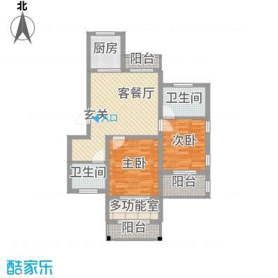 国际空港花园7.00㎡二户型2室1厅2卫1厨