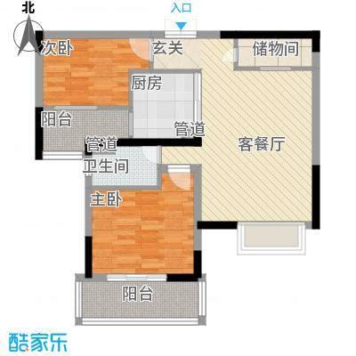 梦琴湾86.00㎡户型2室