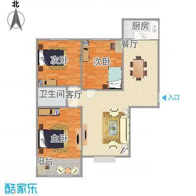 三室两厅100平米