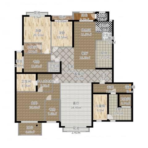 开明小区7室2厅5卫1厨331.00㎡户型图