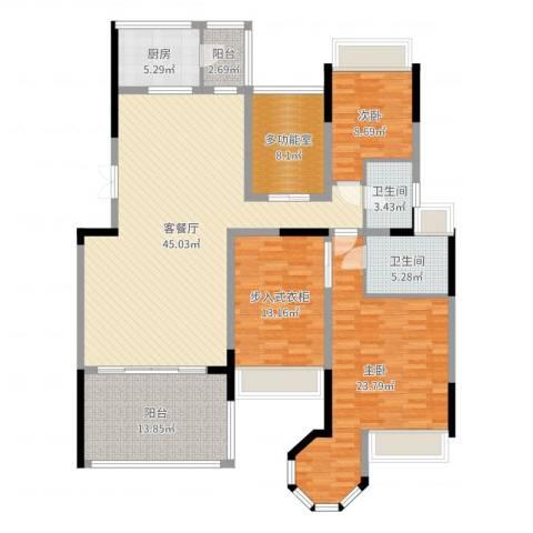 花样年君山别墅2室2厅2卫1厨129.31㎡户型图