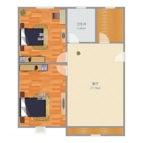 同济路1111弄2室1厅1卫1厨85.00㎡户型图