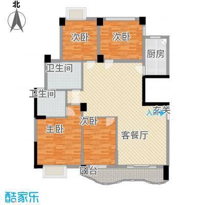 中地・滨江国际17143.87㎡17#户型3室2厅2卫1厨